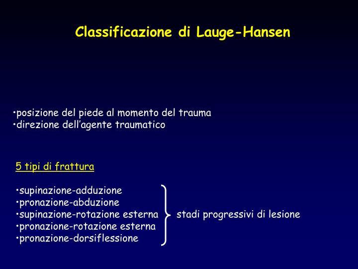 Classificazione di Lauge-Hansen