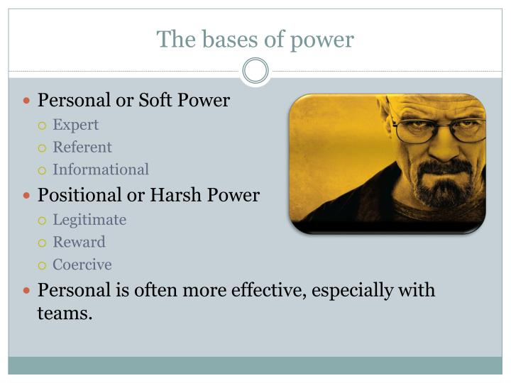 The bases of power