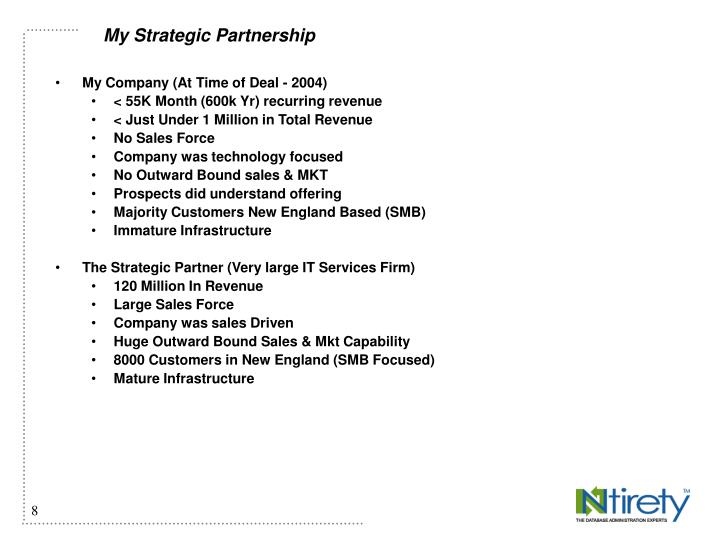 My Strategic Partnership