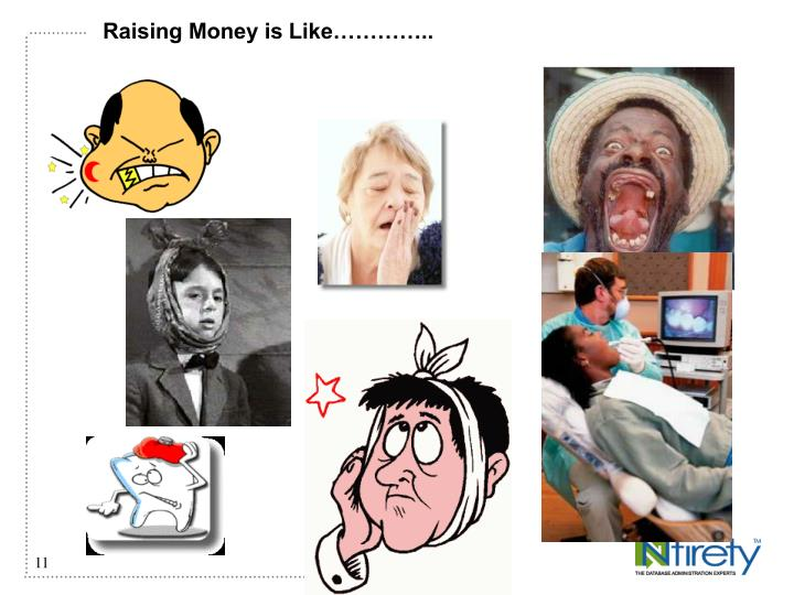 Raising Money is Like…………..