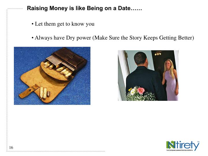 Raising Money is like Being on a Date……