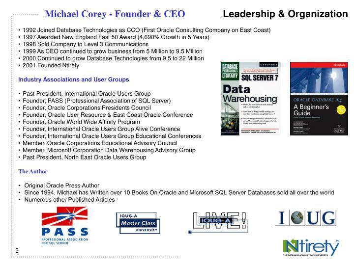 Michael Corey - Founder & CEO