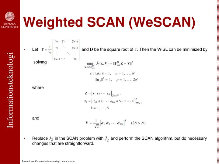 Weighted SCAN (WeSCAN)