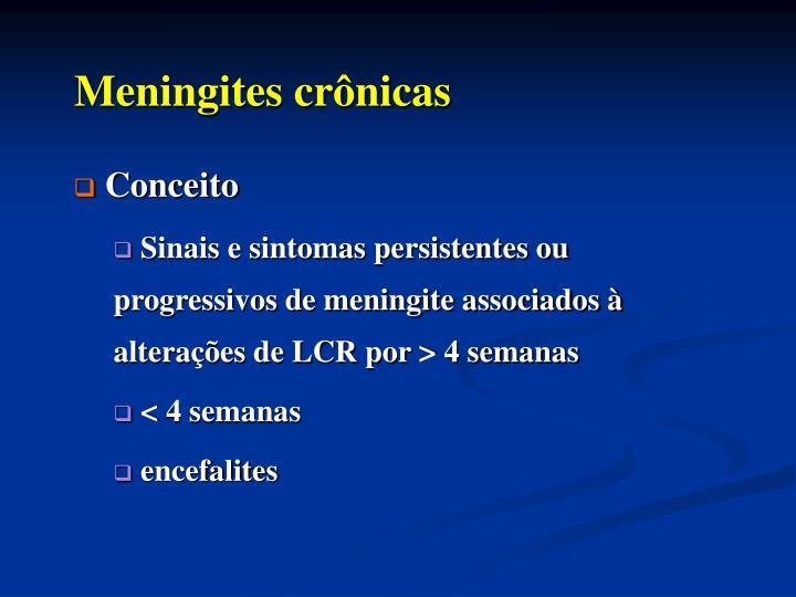 Meningites cr nicas