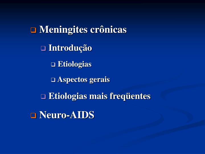Meningites crônicas
