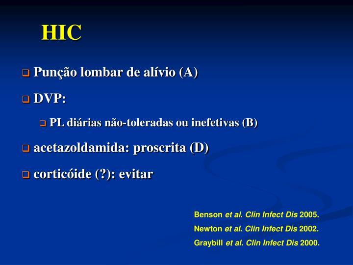 Punção lombar de alívio (A)