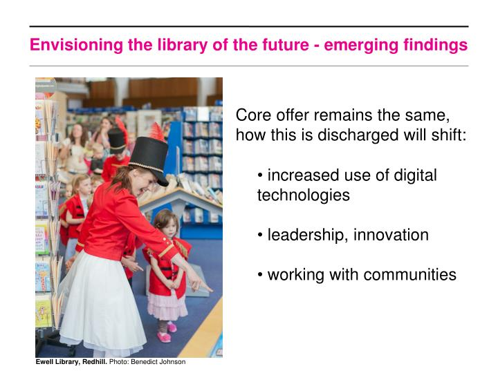 Envisioning the library of the future - emerging findings