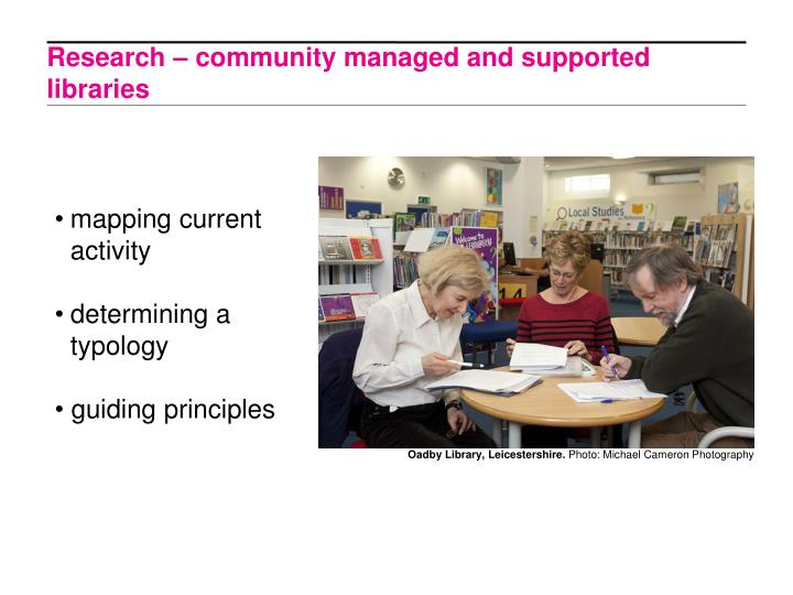 Research – community managed and supported libraries