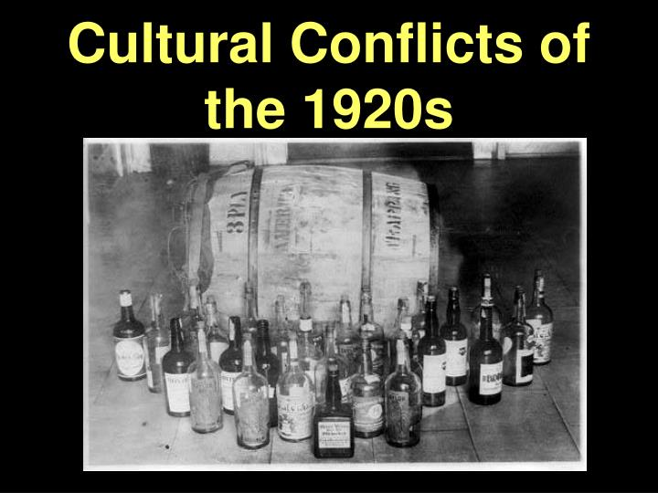 Cultural conflicts of the 1920s