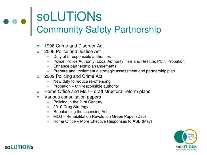 Solutions community safety partnership