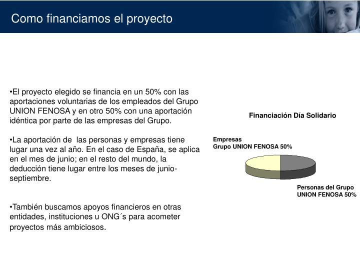 Financiación Día Solidario