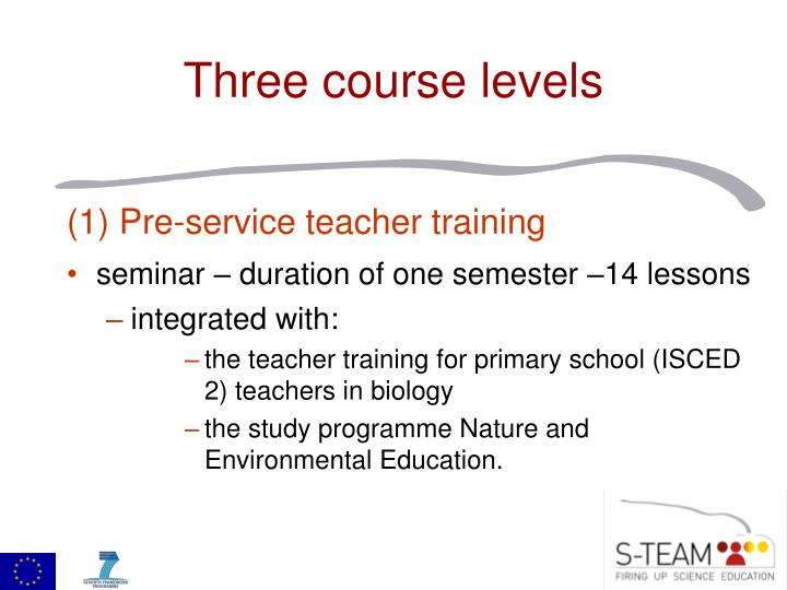 (1) Pre-service teacher training