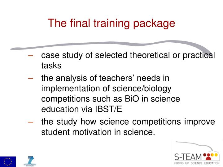 case study of selected theoretical or practical tasks