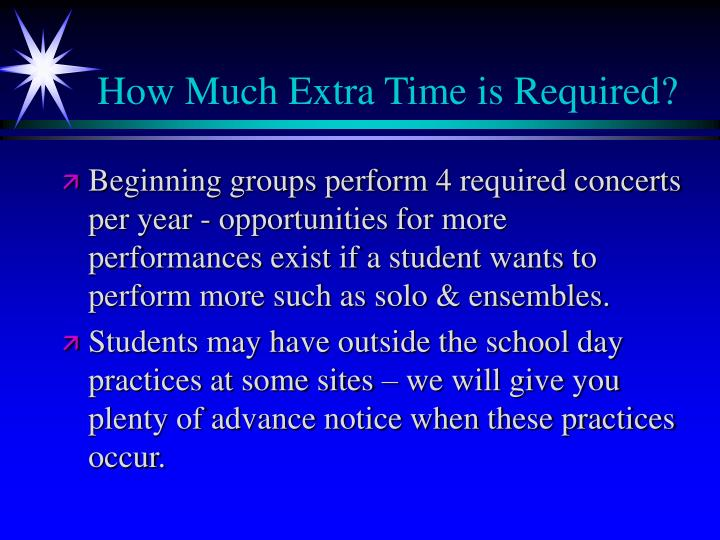 How Much Extra Time is Required?