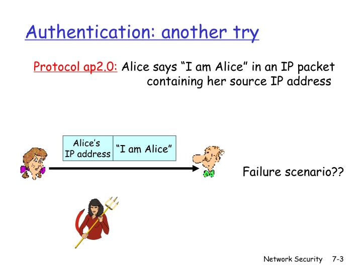 Authentication another try