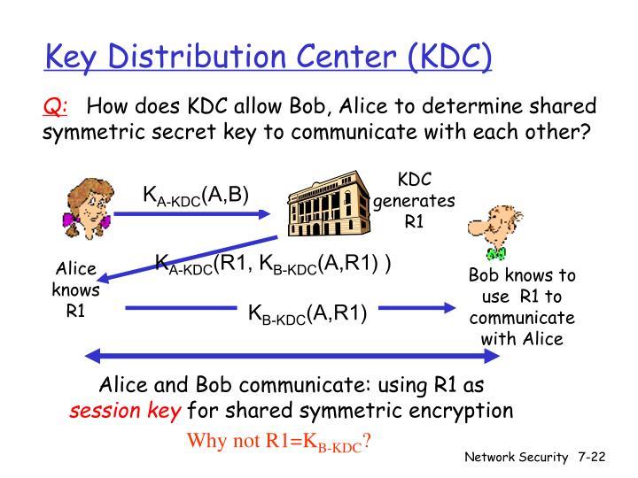 Key Distribution Center (KDC)