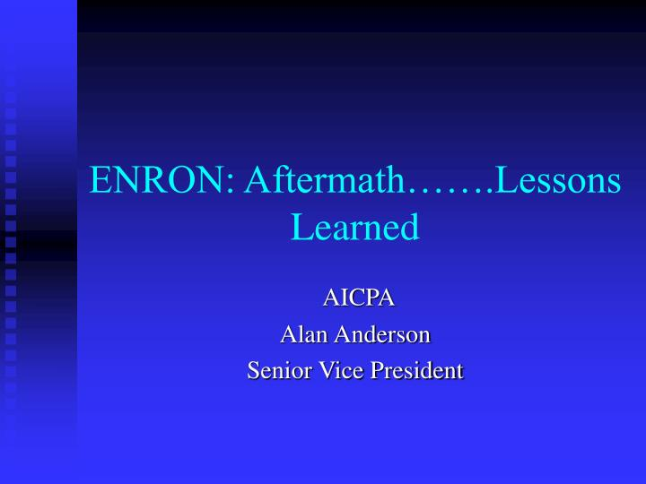 the enron scandal lessons learned and facts With that in mind, this article will describe 5 actionable investing lessons that can be learned from the enron scandal business overview before diving into some actionable lessons that can be taken away from enron's bankruptcy, it will be useful to understand the company's complicated business model.