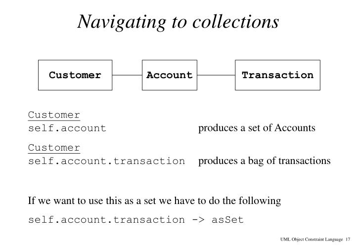 Navigating to collections