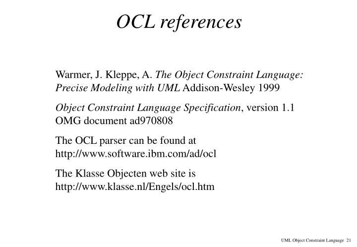 OCL references