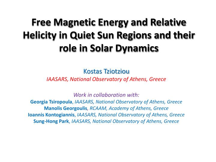Free Magnetic