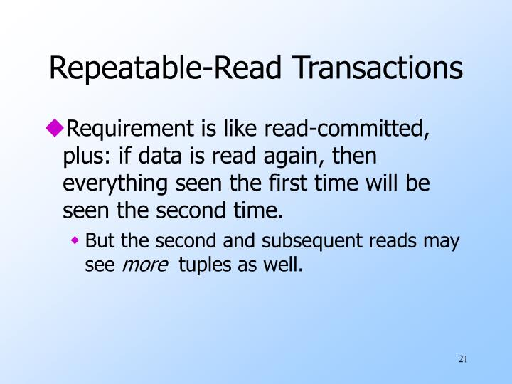 Repeatable-Read Transactions