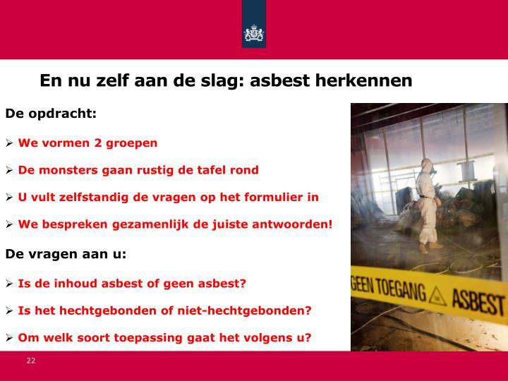 En nu zelf aan de slag: asbest herkennen