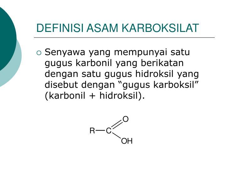 Definisi asam karboksilat