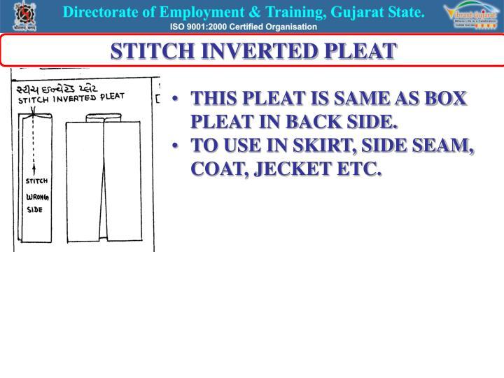 STITCH INVERTED PLEAT