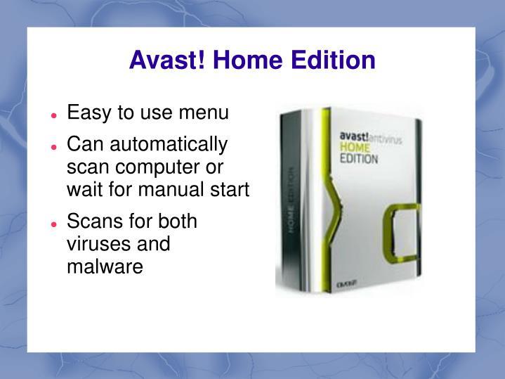Avast home edition