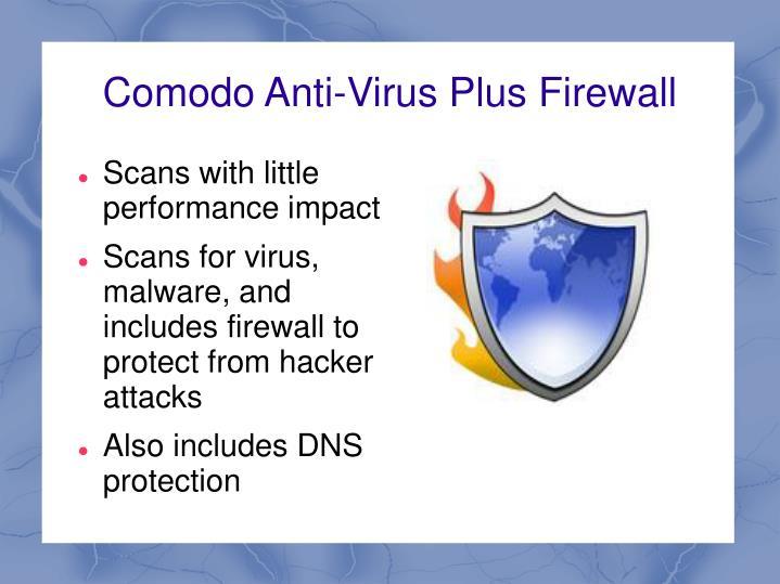 Comodo anti virus plus firewall