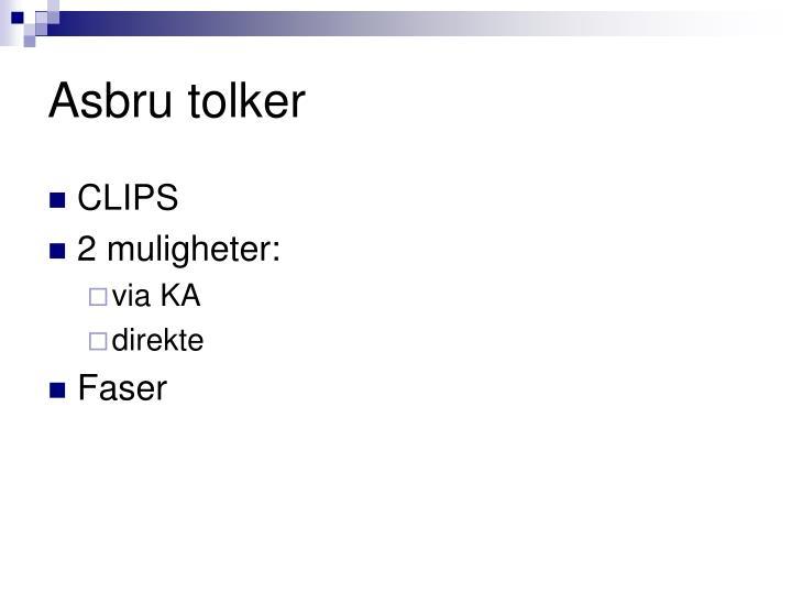Asbru tolker