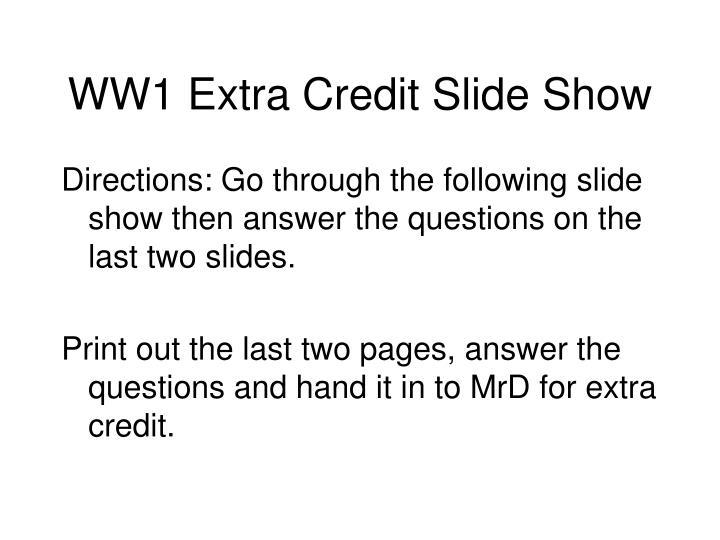 Ww1 extra credit slide show