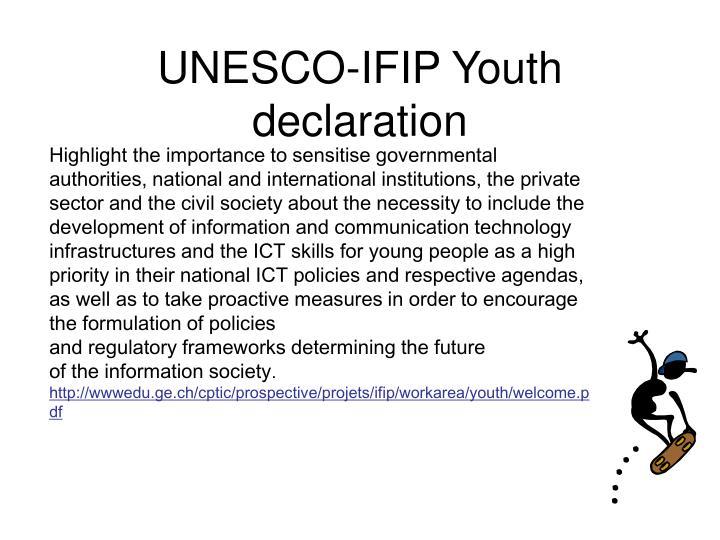 UNESCO-IFIP Youth declaration