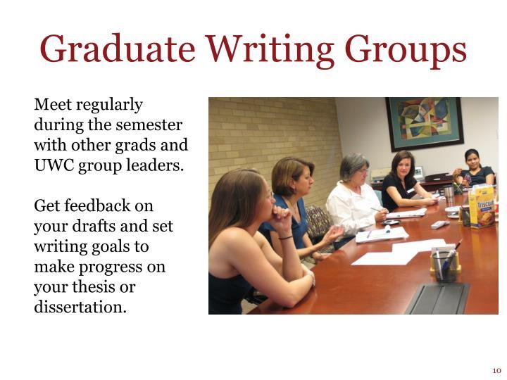 Graduate Writing Groups