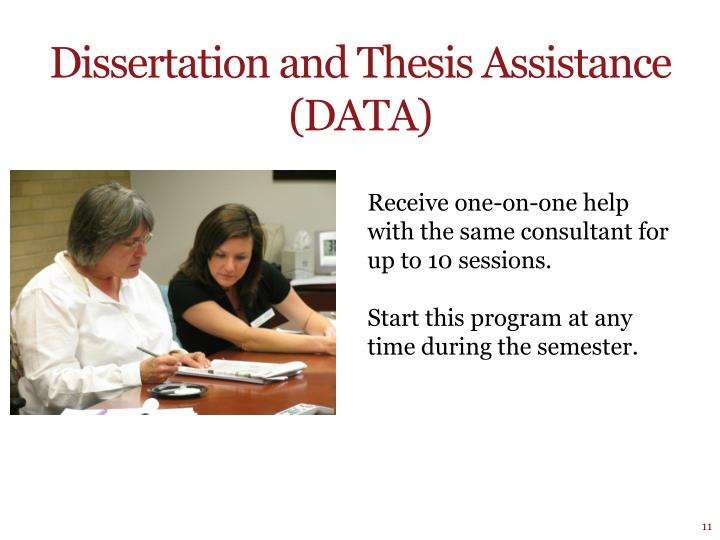 Dissertation and Thesis Assistance