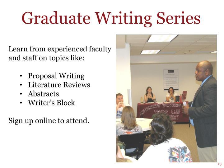 Graduate Writing Series