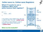 caller save vs callee save registers