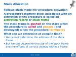 stack allocation
