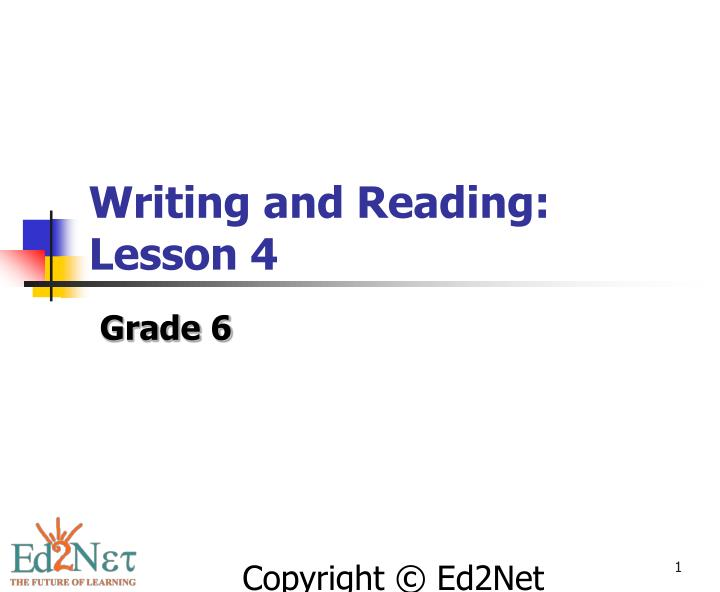 writing and reading lesson 4 n.