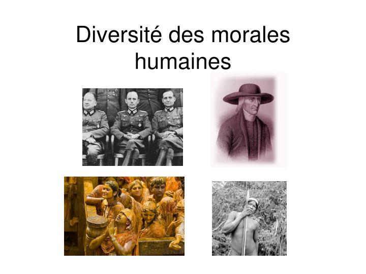 Diversit des morales humaines