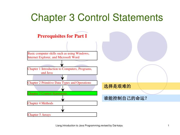 chapter 3 control statements n.