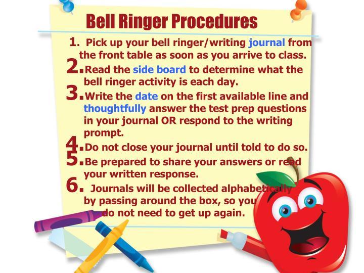 Bell Ringer Procedures