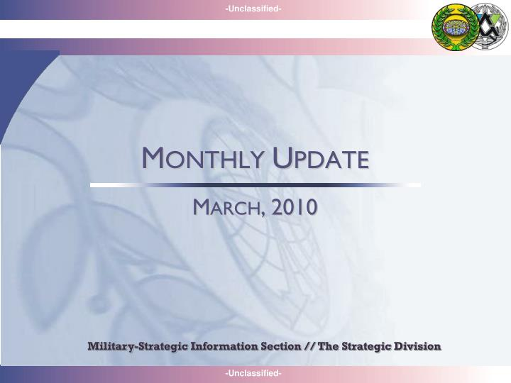 Military-Strategic Information Section // The Strategic Division