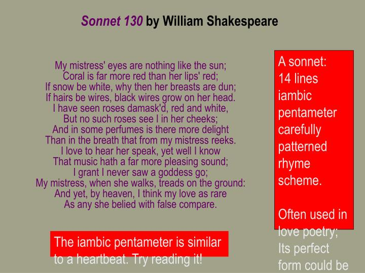 Ppt  Sonnet  By William Shakespeare Powerpoint Presentation  Id  A Sonnet