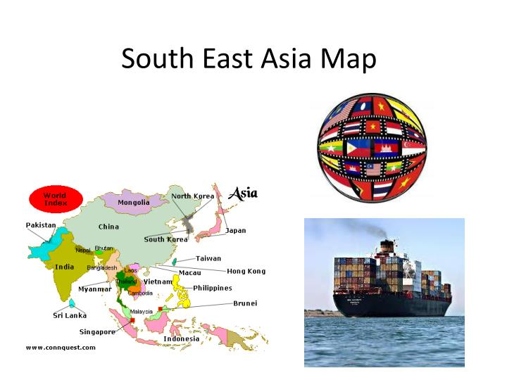 south east asia map n.