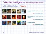 collective intelligence from tagging to folksonomy1