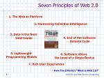 seven principles of web 2 0