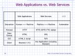 web applications vs web services