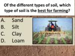 of the different types of soil which type of soil is the best for farming