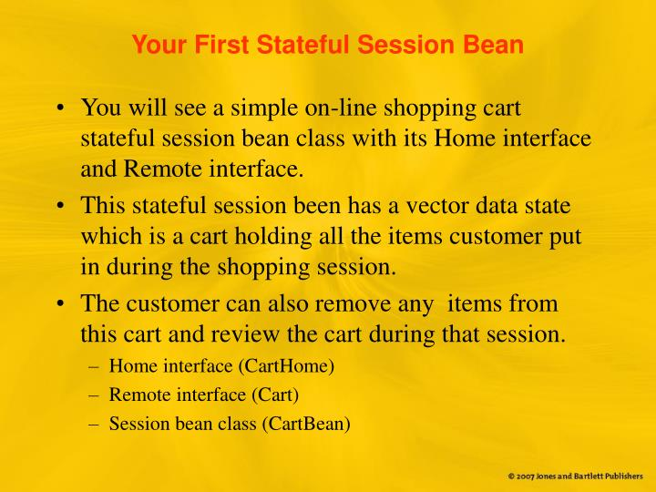 Your First Stateful Session Bean